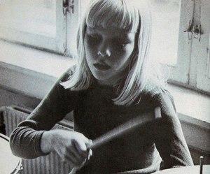 girl, drums, and indie image