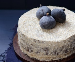 cake, dessert, and figs image