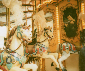 carnival, horses, and merry-go-round image