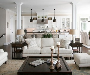 living room, home, and house image