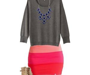 coral, summer, and skirt image