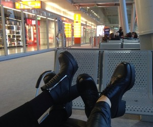airport, pale, and girls image