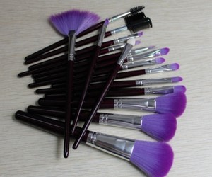 purple, Brushes, and makeup image