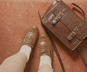 antique, brogues, and vintage image