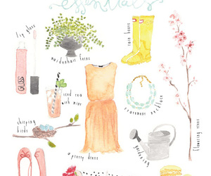 spring, essentials, and flowers image