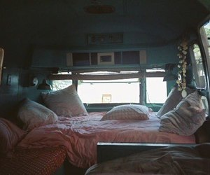 hipster, bed, and car image