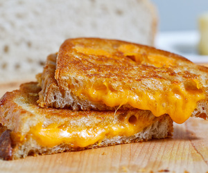 food, grilled cheese, and cheese image