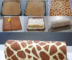 food, cake, and giraffe image