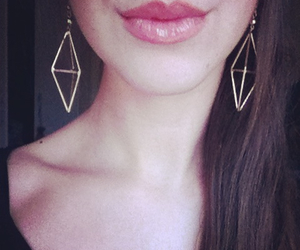 beautiful, earrings, and girl image