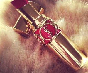 lipstick, red, and YSL image