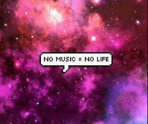 music, life, and galaxy image