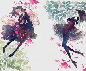 anime and flowers image