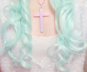 hair, pastel goth, and pastel image