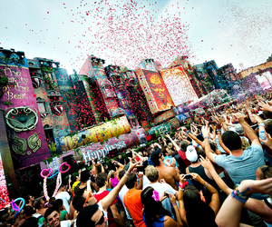 Tomorrowland, party, and music image