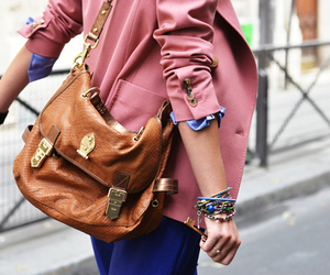 bag, blue, and clothing image