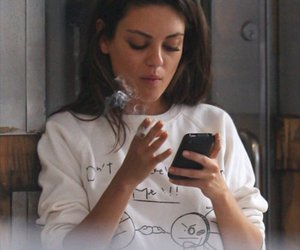 brunette, phone, and candid image