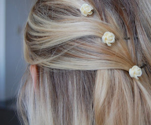 hair, cute, and blonde image