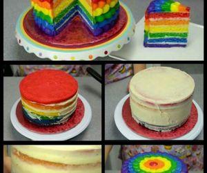 tutorial, cake, and rainbow image