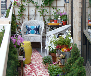 balcony and flowers image