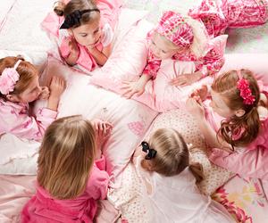 pink, girl, and kids image