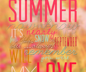 one direction, summer love, and summer image