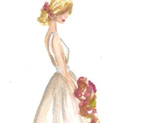 art, bride, and dress image