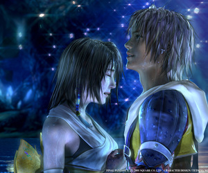 yuna, tidus, and FFX image