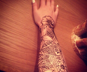 henna, indian, and patterns image