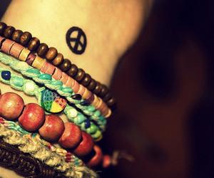 peace, bracelet, and tattoo image