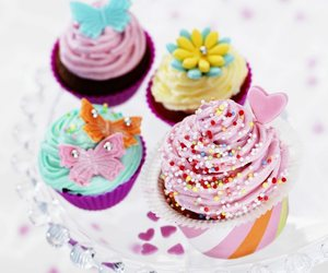 pretty, cute, and cupcakes image