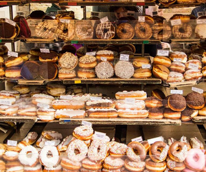 calories, donuts, and food image