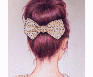 drawing, art, and bow image