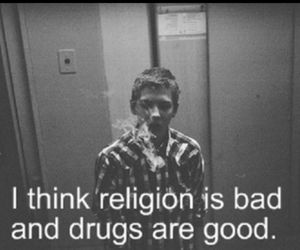 bad, blackandwhite, and religions image