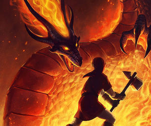link, oot, and fire temple image