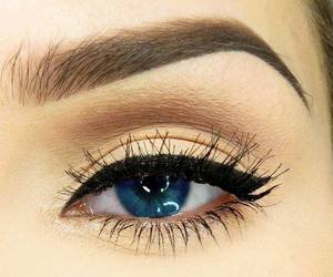look, make up, and blue eyes image