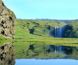 green, lake, and landscape image