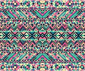 aztec, blue, and wallpaper image