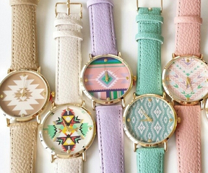watch, purple, and pink image