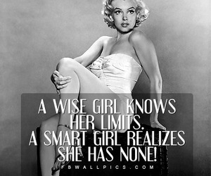 quote, girl, and Marilyn Monroe image