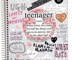teenager and notebook image