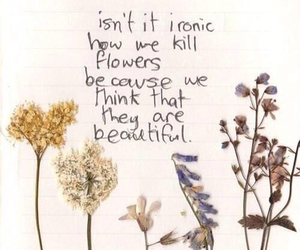 beautiful, think, and flowers image
