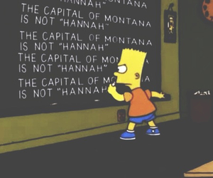 hannah montana, simpsons, and bart image
