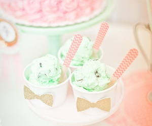 adorable, chevron, and ice cream image