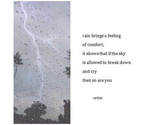 rain, sad, and cry image