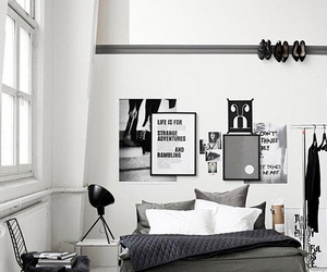 interior, bedroom, and black image