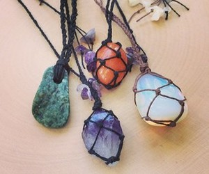 crystal necklace, boho style, and crystal healing image