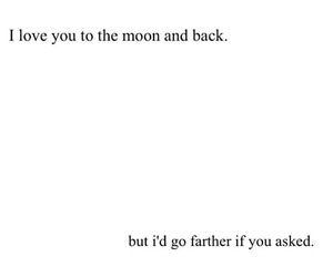 quote, love, and moon image