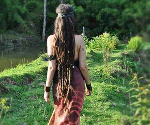dreads, girl, and nature image