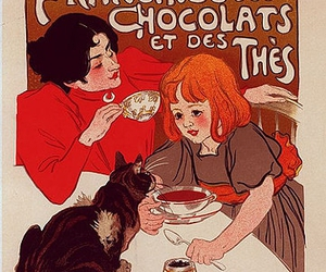 chocolate, cat, and coffee image