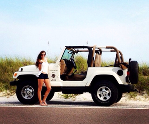 jeep, summer, and beach image
